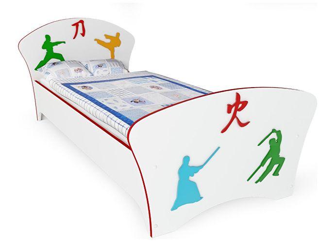 Кровать Соната Kids Орматек для мальчиков единоборства (красная кромка)