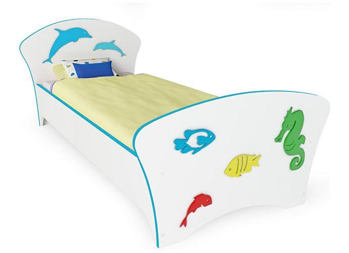 Кровать Соната Kids Орматек море (голубая кромка)