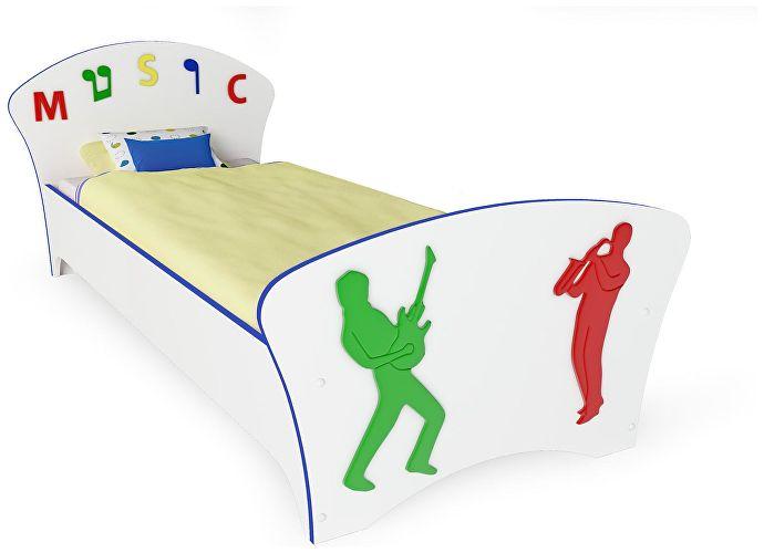 Кровать Соната Kids Орматек музыка (синяя кромка)