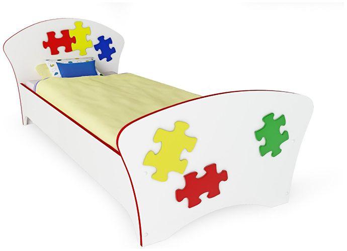 Кровать Соната Kids Орматек пазлы (красная кромка)