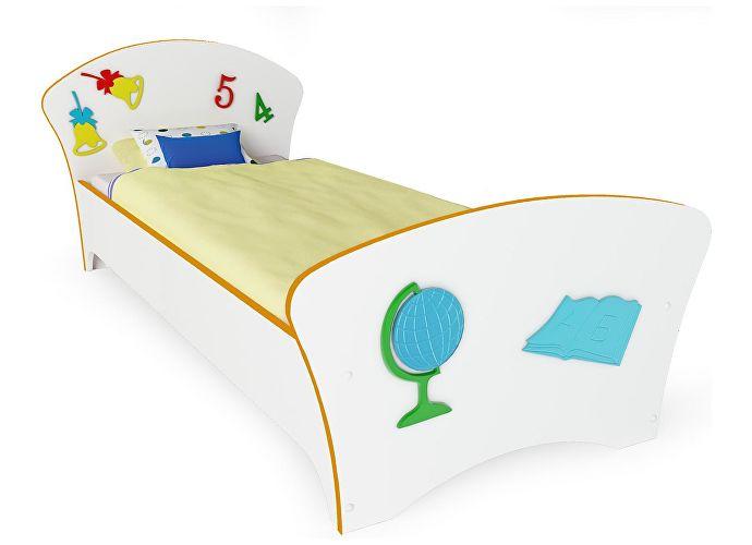 Кровать Соната Kids Орматек школа (оранжевая кромка)