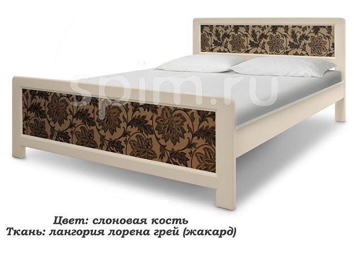 Кровать Шале Стронг слоновая кость+25%