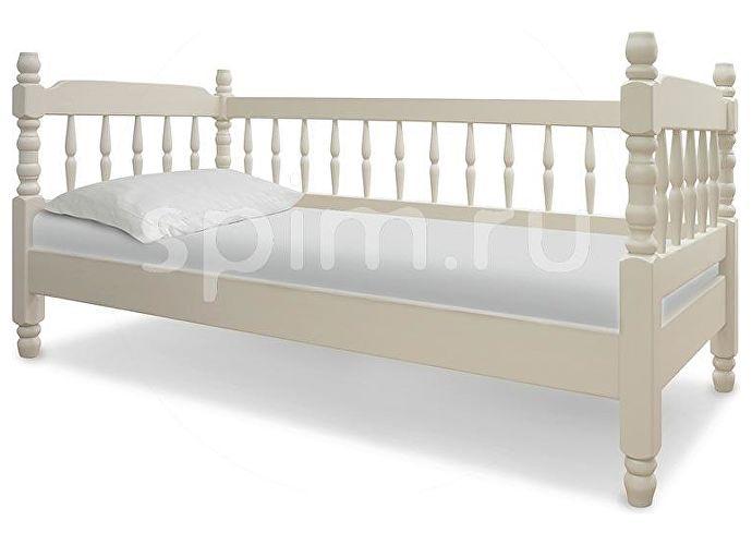 Кровать Шале Смайл с тремя спинками слоновая кость+25%