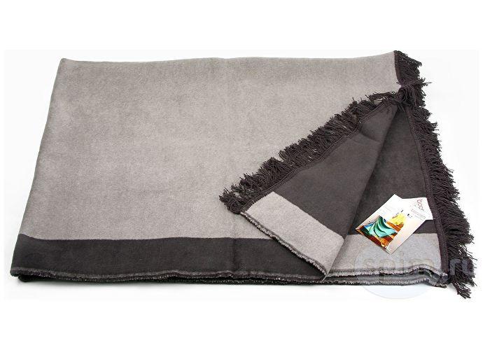 Плед Bocasa Orion Cotton Plus арт. 629470, антрацит/бордо