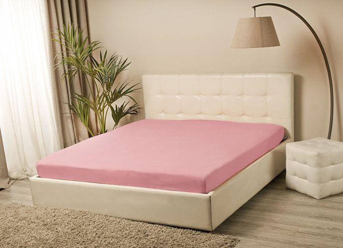 Простыня на резинке Sleepline светло-розовый