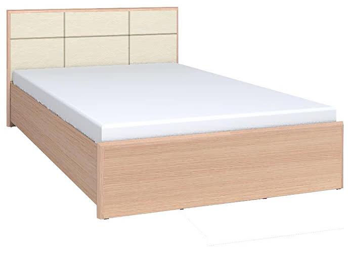 Кровать Глазов Амели Люкс 201 (160) дуб отбеленный