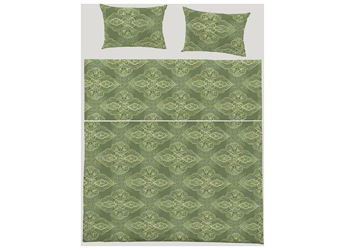Постельное белье Fussenegger Восточный орнамент зеленый