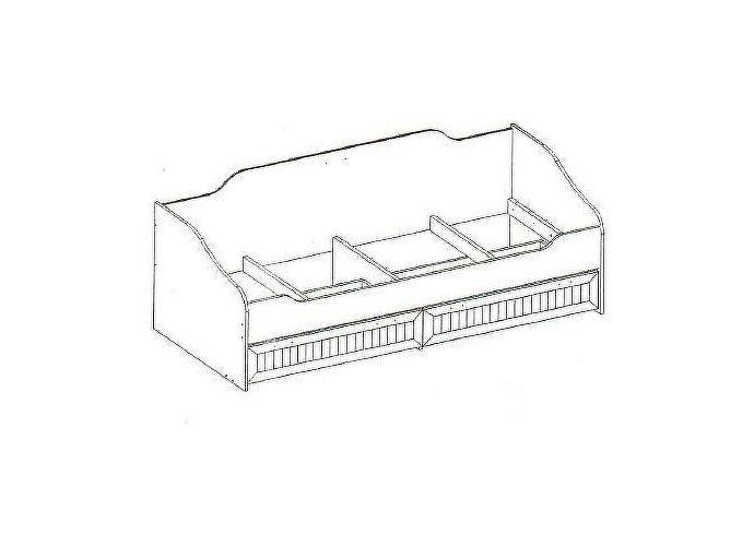 Кровать Интеди Робинзон, ИД 01.95а (80) одинарная