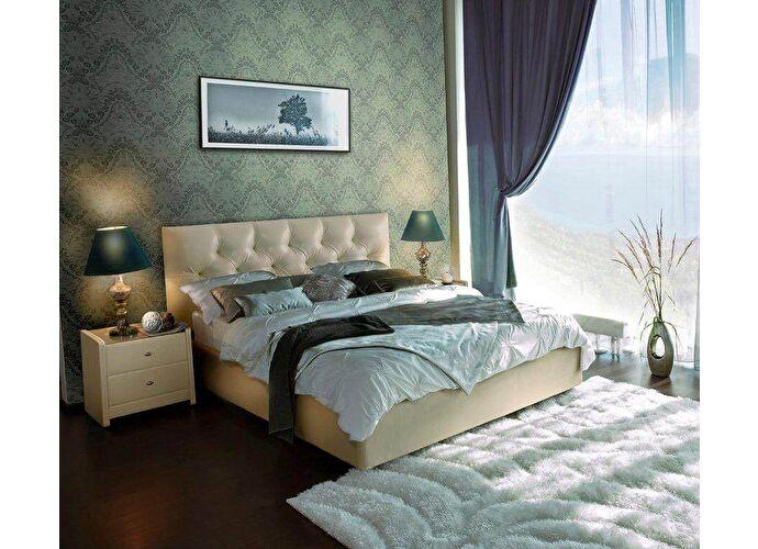 Кровать Аскона Marlena с подъемным механизмом, 2 категория 109 (бежевый)