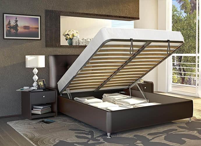 Кровать Аскона Amelia с подъемным механизмом, 2 категория венге