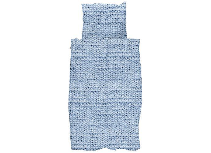 Постельное белье Snurk Косичка (перкаль) синий