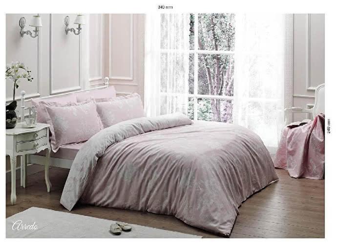 Постельное белье Tivolyo Delux Arredo розовый