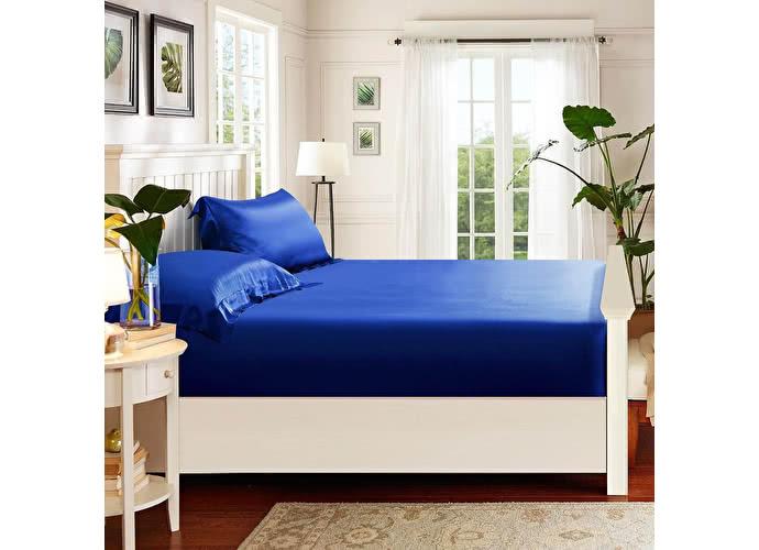 180х200 см Простыня на резинке Luxe Dream синий