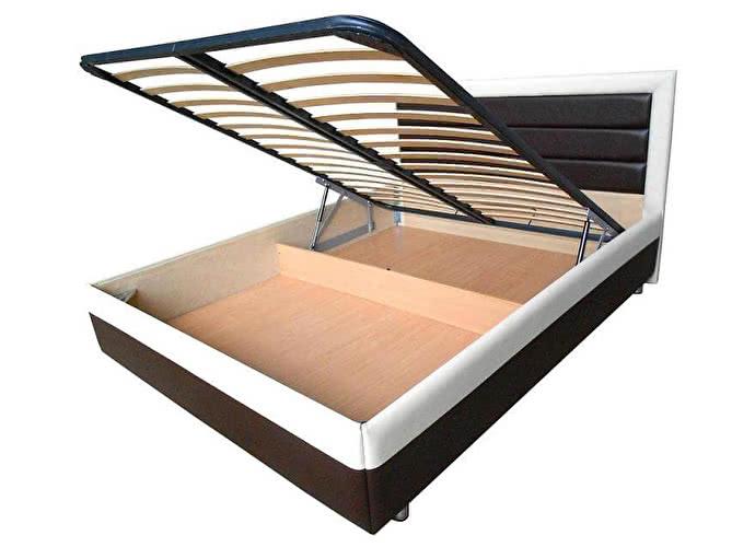 Кровать Life 2 Box черный/белый