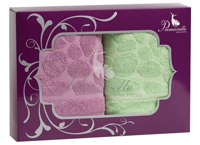 Набор полотенец Primavelle Piera, 50x90 (2 шт.) лиловый/зеленый