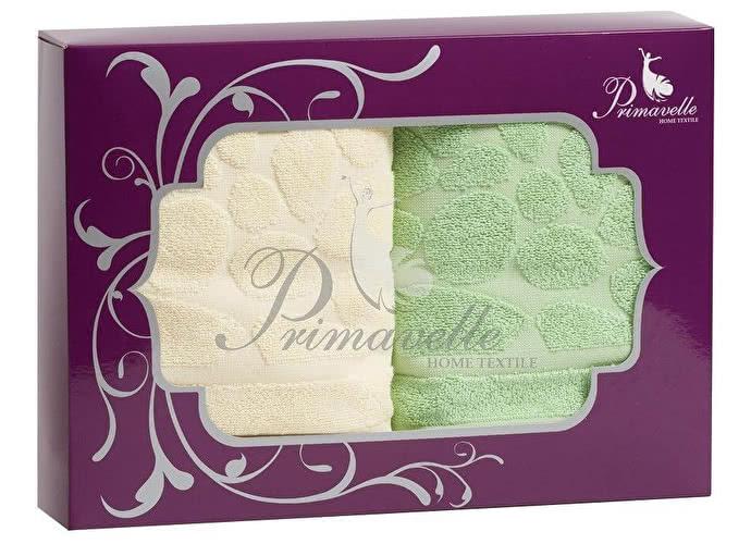 Набор полотенец Primavelle Piera, 50x90 (2 шт.) зеленый/бежевый