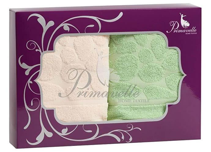 Набор полотенец Primavelle Piera, 50x90 (2 шт.) фиолетовый/ваниль