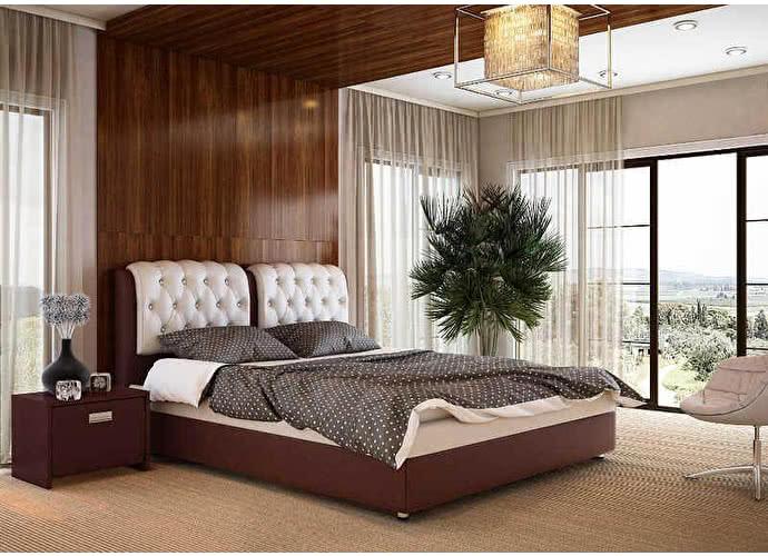 Кровать Veda 5 Орматек Brown (TM-Venge)/Бежевый (Cream Terra-101)