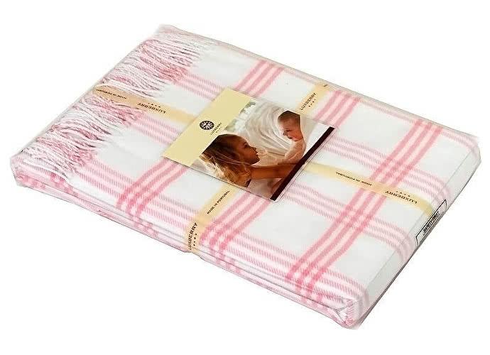 Детский плед Luxberry Lux 519, 100х150 розовый/белый