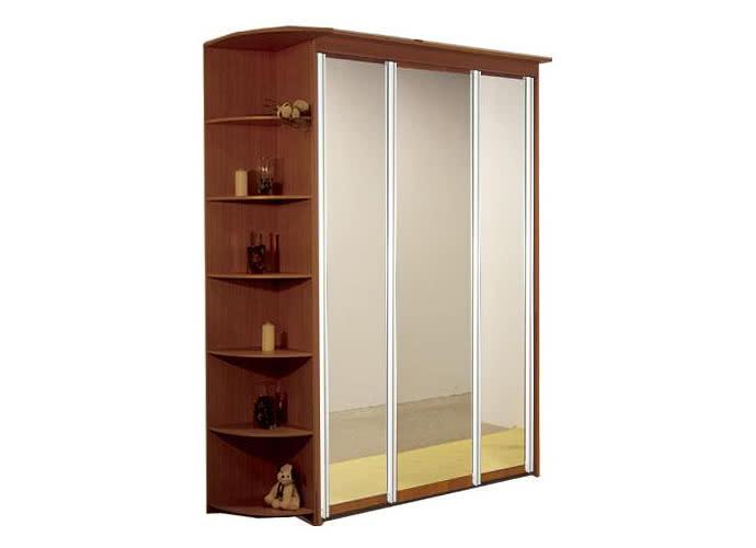 Шкаф-купе Элит 3х дверный с 3 зеркальными дверями