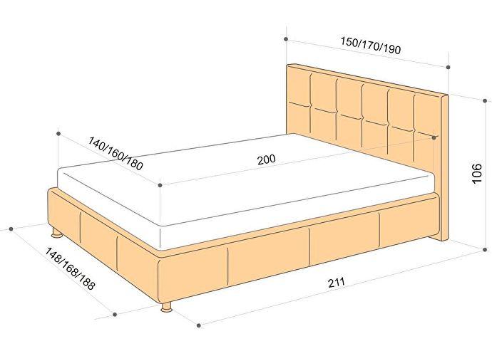 Кровать Аскона Greta, 2 категория