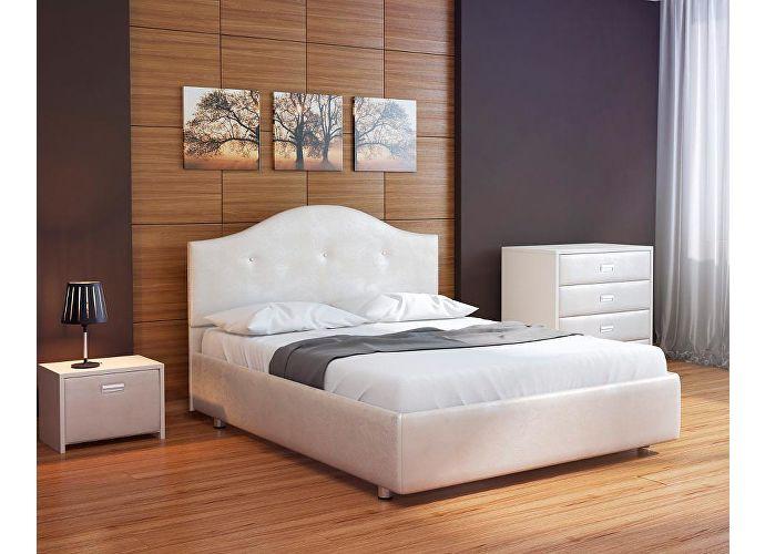 Кровать Орматек Veda 7 цвета люкс и ткань Жемчуг Sprinter pearl (2247)