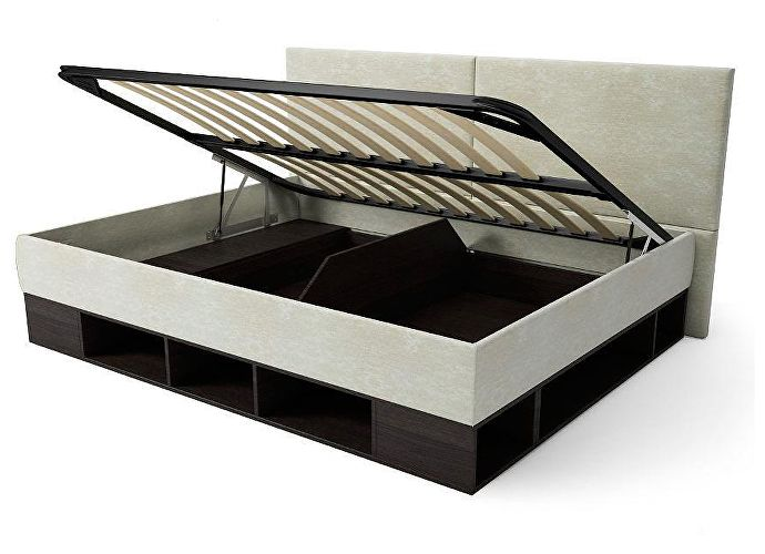 Кровать-тахта Орматек Lancaster (цвета люкс) черный/лофти рыжий,ткань