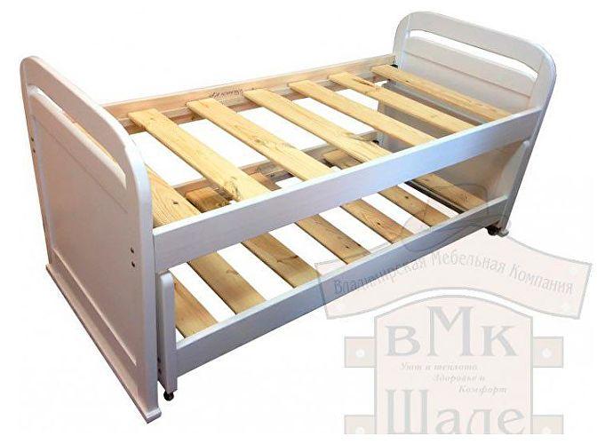 Кровать Мурзилка Шале белый эмаль+25%