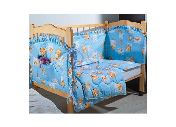 Кoмплект в детскую кроватку Кроха 2 Primavelle голубой