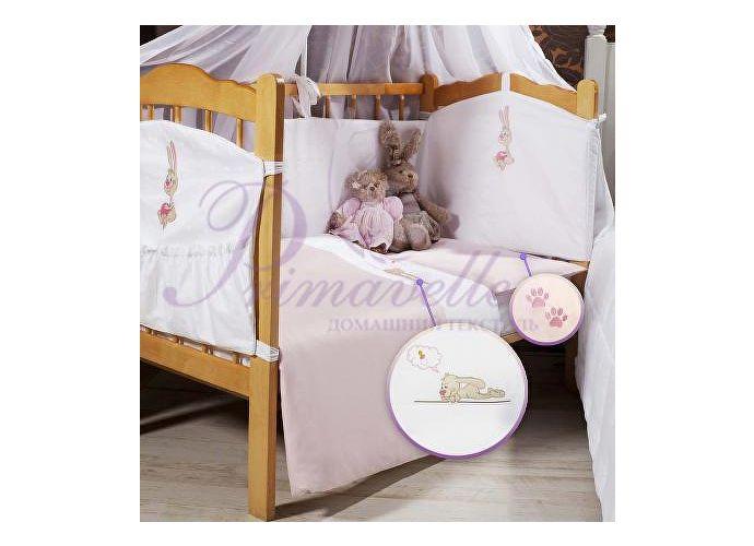 Детское постельное белье Lovely Primavelle белый с розовой вышивкой