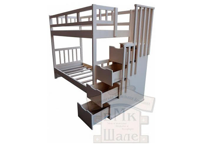 Кровать Шале Артек белый эмаль+25%