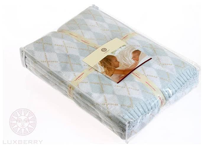 Детский плед Luxberry Imperio 252, 100х150 голубой