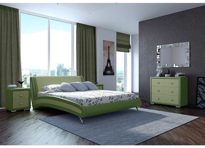 Кровать Орматек Corso-2 (серый, зеленый) Олива/зеленое яблоко