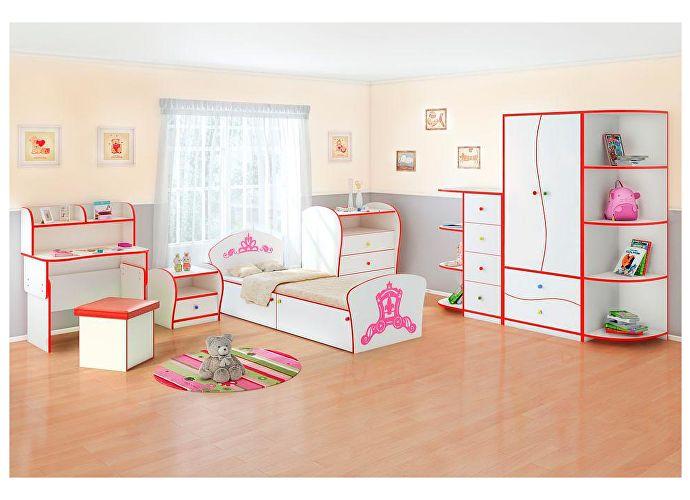 Кровать Соната Kids Плюс для девочек Орматек принцесса (красная кромка)