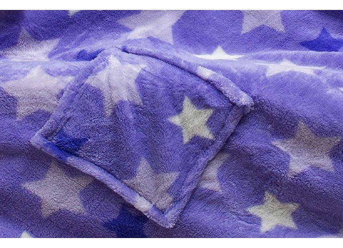 Плед Sleepy Luxury с рукавами, фиолетовые звезды