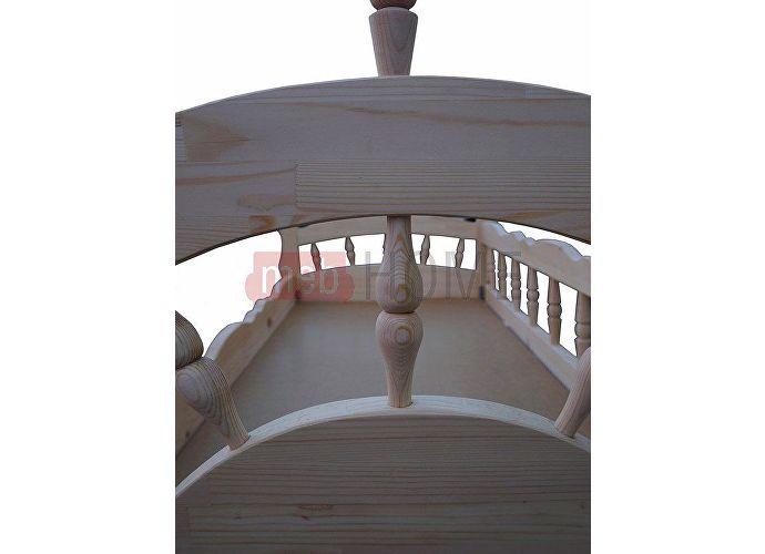 Кровать Адмирал Шале слоновая кость+25%