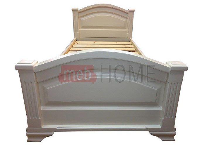 Кровать Шале Леонсия белый эмаль+25%