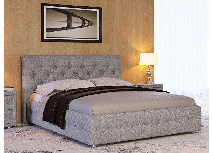Кровать Life 4 (ткань и экокожа люкс) Глазго серый