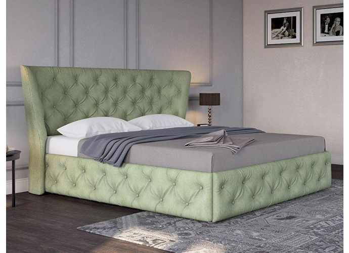 Кровать Life 5 (ткань и цвета люкс) Лофти олива