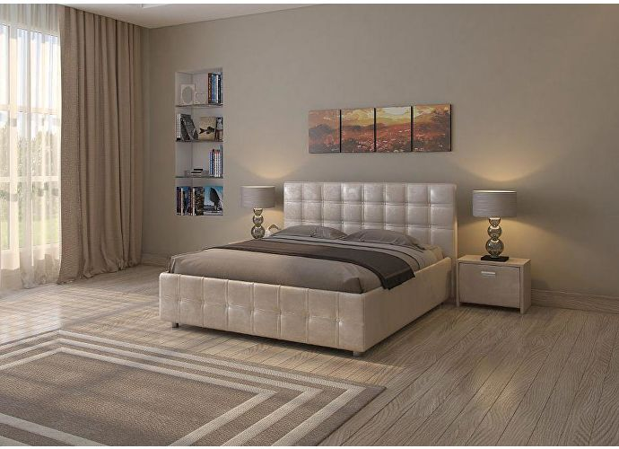 Кровать Life 3 (цвета люкс и ткань) жемчуг sprinter pearl (2247)