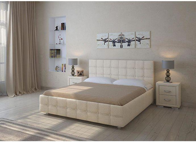 Кровать Life 3 Box (цвета люкс и ткань) Глазго бежевый