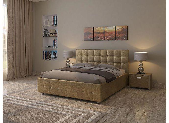 Кровать Life 3 Box (цвета люкс и ткань) Золото (Sprinter Gold 2331)
