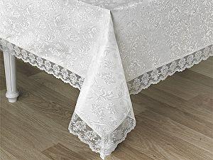 Купить скатерть Karna Leda 160х220 см с гипюром, белая