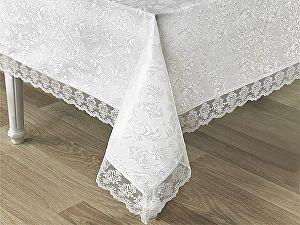 Купить скатерть Karna Leda 160х300 см с гипюром, белая