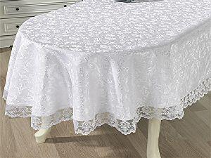 Купить скатерть Karna Leda 160х220 см овальная с гипюром, белая