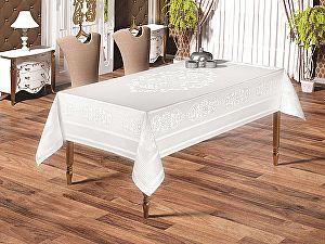 Купить скатерть Karna Caramel 160х220 см, белая