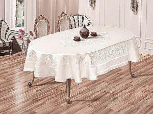 Купить скатерть Karna Caramel овальная 160х220 см, белая