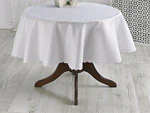 Купить скатерть Karna Silver круглая 160 см, кремовая