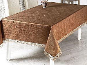 Купить скатерть Karna Nihan с гипюром 160х220 см, коричневая