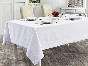 Купить скатерть Karna Honey 160х220 см с вышивкой, белая